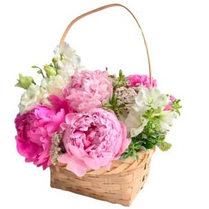 """Цветы в корзинке """"Добрые слова"""""""